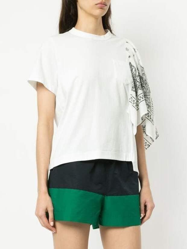футболка сшитая своими руками из платка или шарфа