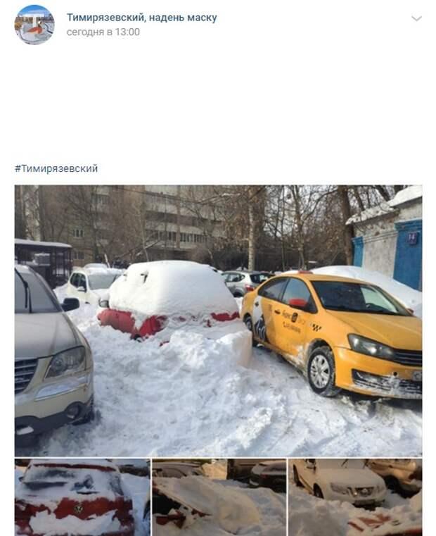 Фото дня: соседские снежные баталии в Тимирязевском