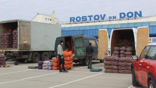 Овощную площадку для продавцов саксайского рынка запустили устарого аэропорта