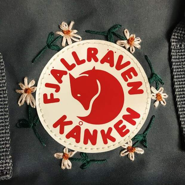 Вышивки на рюкзаках Kanken (подборка)