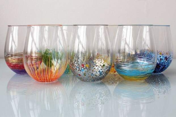 Декор стаканов: сделайте праздник ярче!