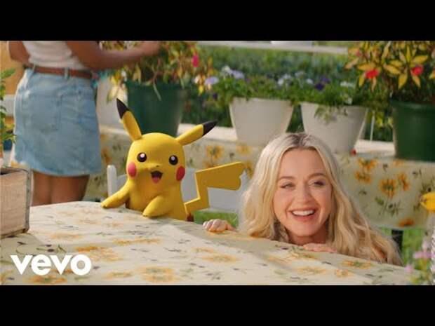 ВСети набирает популярность клип Кэти Перри сПикачу «Electric»