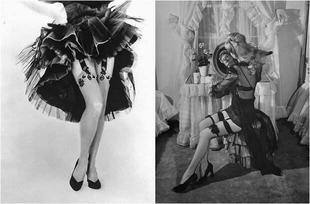 22 гламурные красотки середины ХХ века в изящных чулках