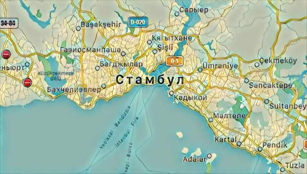 Стамбул находится на границе Европы и Азии
