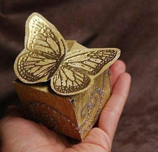 Коробка с бабочкой diy
