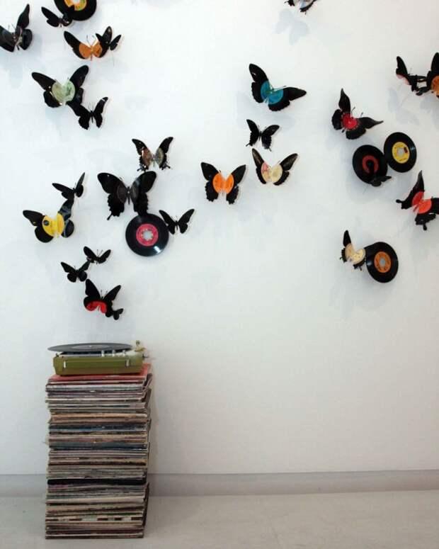 Самодельная композиция из бабочек преобразит любое помещение