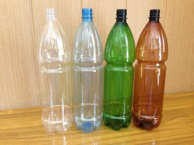 Понадобятся пустые бутылки. /Фото: yandex.ru.
