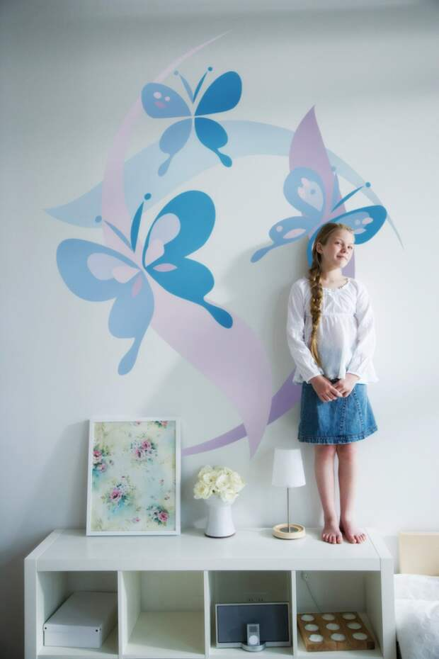 Маленькие художники могут самостоятельно украсить стену своей комнаты