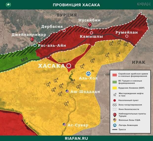 Карта военных действий в Хасаке