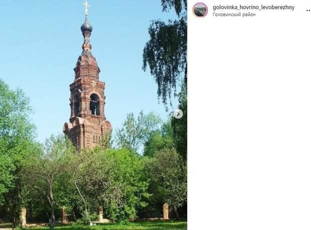 Фото дня: летний вид на колокольню Казанского Головинского монастыря