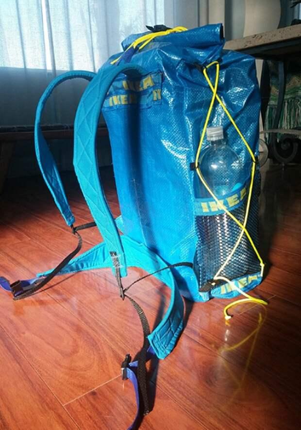 Переделка синей сумки IKEA (трафик)