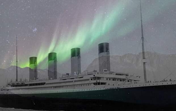 «Титаник» разбился об айсберг из-за северного сияния?