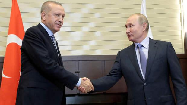"""Путин подтвердил Эрдогану готовность России отправить в Турцию """"Спутник V"""""""