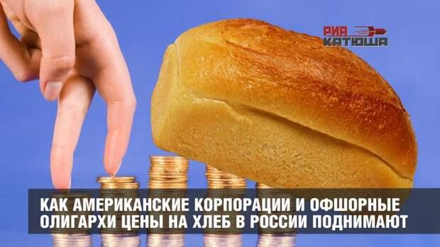 Как американские корпорации и офшорные олигархи цены на хлеб в России поднимают