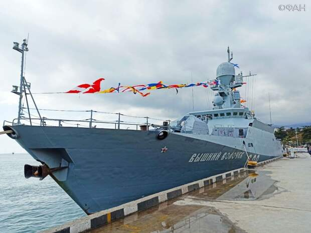 В честь Дня Победы в Ялту прибыл корабль с ракетами «Калибр» на борту