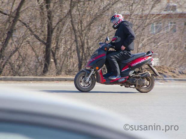 Водитель мотоцикла в Ижевске установил себе чужие «красивые» номера