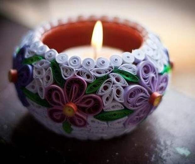 quilling candle