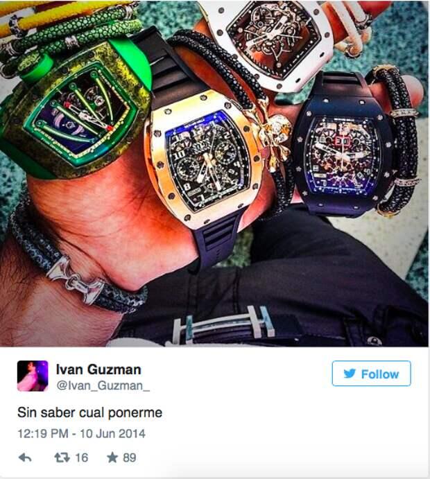 Часы Richard Mille, суммарная стоимость 993 000 евро