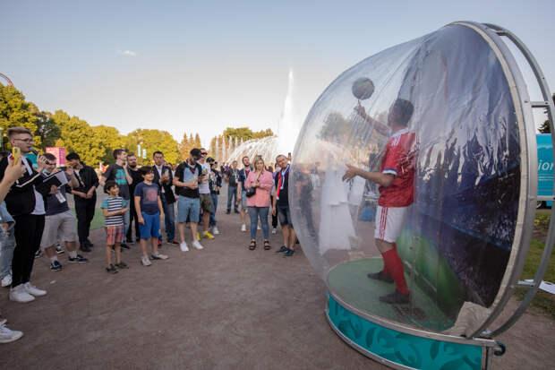 Четыре интерактивные акции в парке Победы во время чемпионата Европы-2020