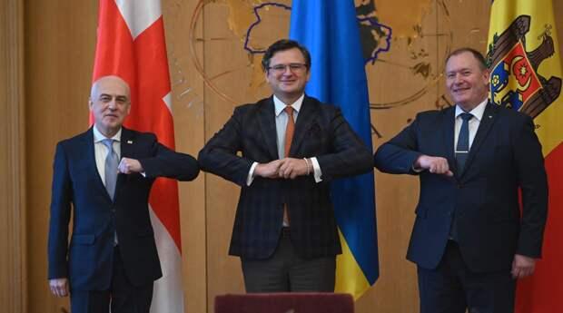 США объединяют Украину, Грузию и Молдавию в антироссийский союз