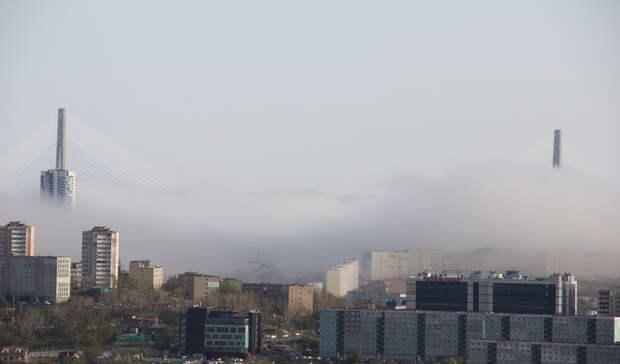 Вот город накрыло: очевидцы успели заснять как непогода захватывает столицу ДФО