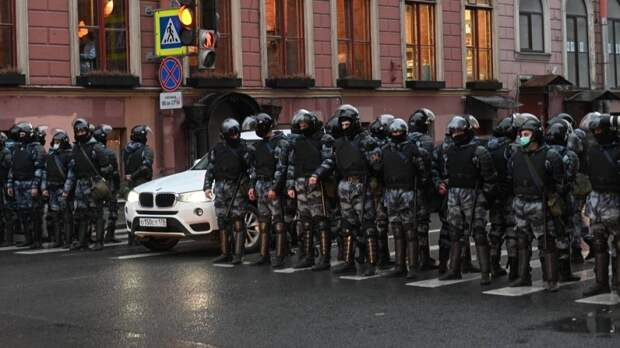 МВД назвало количество участников незаконного митинга в Москве