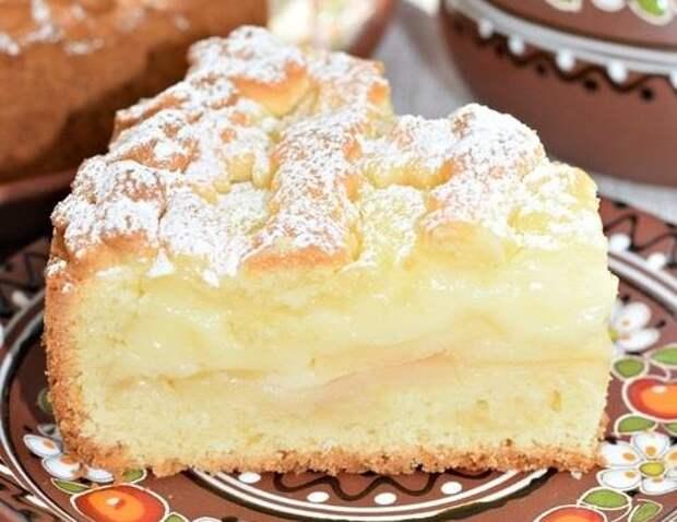 Пирог с яблоками «Нежный»