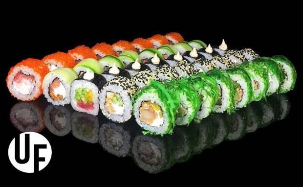 Для начала - просто вкусная рыбка в суши. здоровые, паразиты, соленая рыба