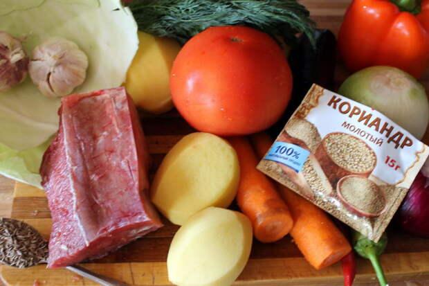 Есть любые овощи - добавляйте в блюд