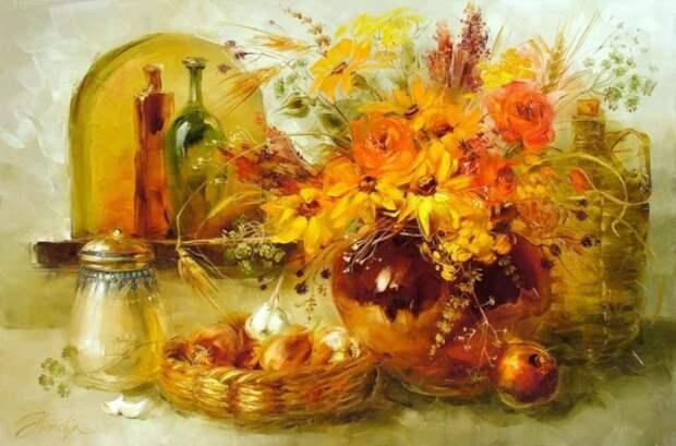 Осенний букет. Автор: Анна Хомчик.