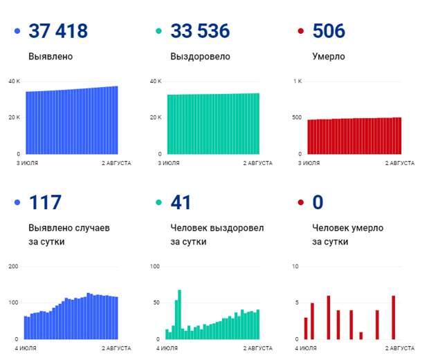 Коронавирус в Томской области: данные на 2 августа