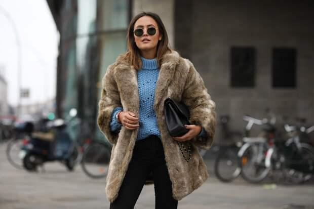 Пальто из искусственного меха – доступный шик: спасибо новым технологиям