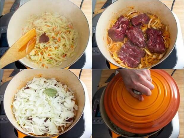 Рецепт пасты с говядиной и луком (Pasta alla Genovese)