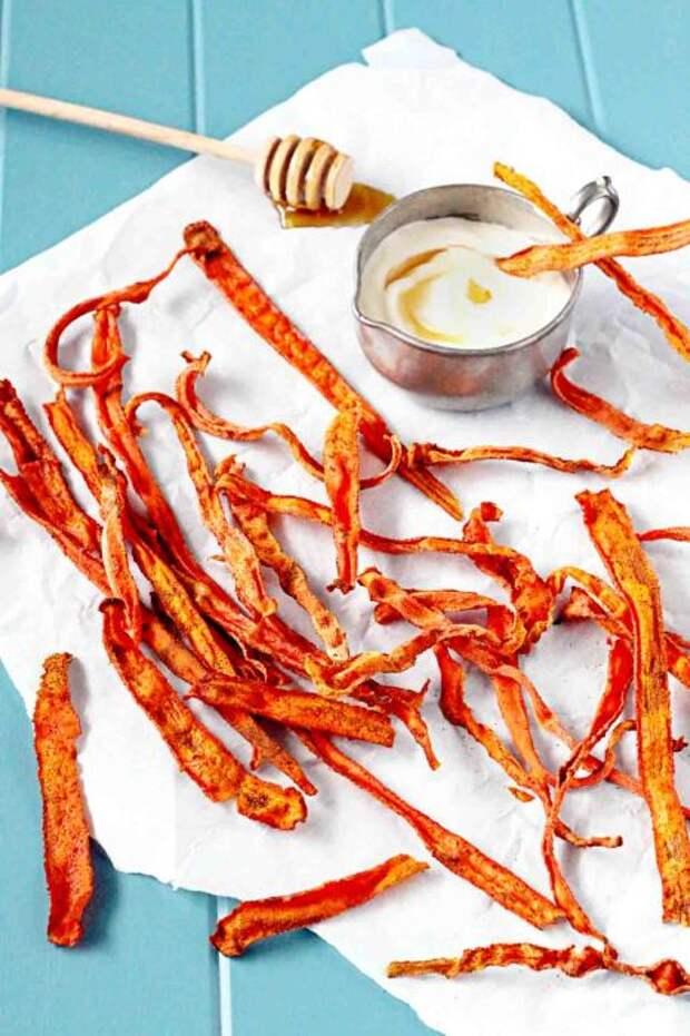 Чипсы из морковки. \ Фото: lenafilatova.com.