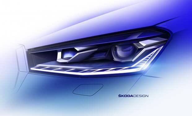 ŠKODA опубликовала эскизы экстерьера новой модели FABIA