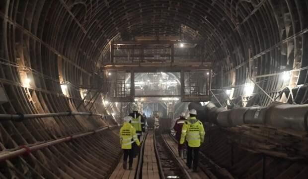 Монтаж ТПМК начали для строительства первого тоннеля Рублево-Архангельской линии метро