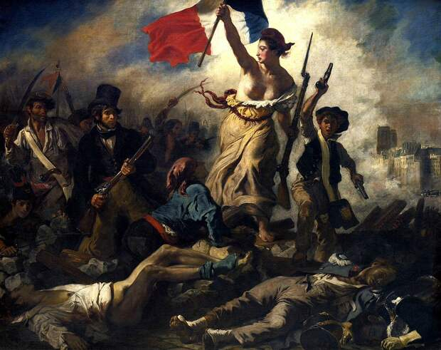 Эжен Делакруа «Свобода, ведущая народ» 1830Хранится в Лувре в Париже