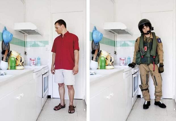 Люди в повседневной одежде и в рабочей униформе