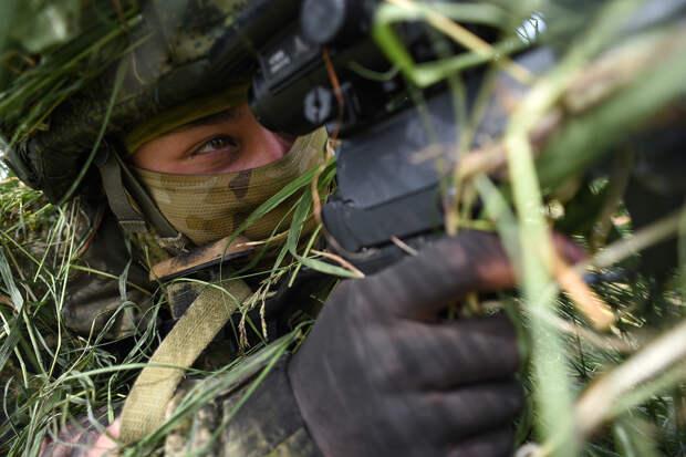 Российские снайперы отрабатывают приемы поражения вражеских беспилотников