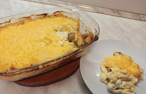 Вкусный ужин! Жульен с курицей и грибами без заморочек!