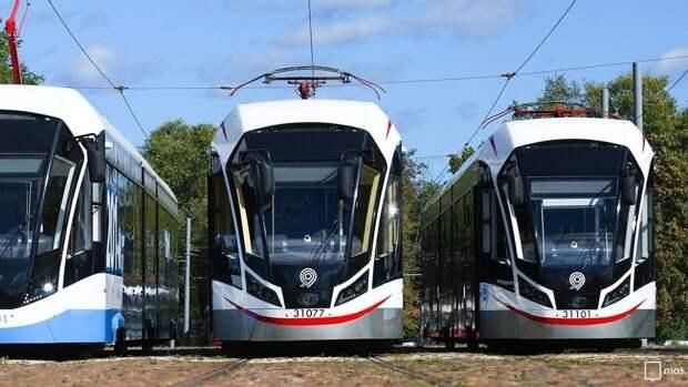 Власти Москвы сообщили о запуске первых односекционных трамваев