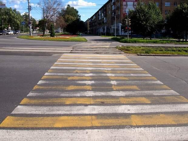 Почти 100 пешеходных переходов обновят в Ижевске к началу учебного года