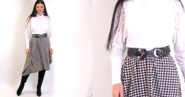 Сшить юбку за 5 минут. Модная и красивая юбка на любой размер