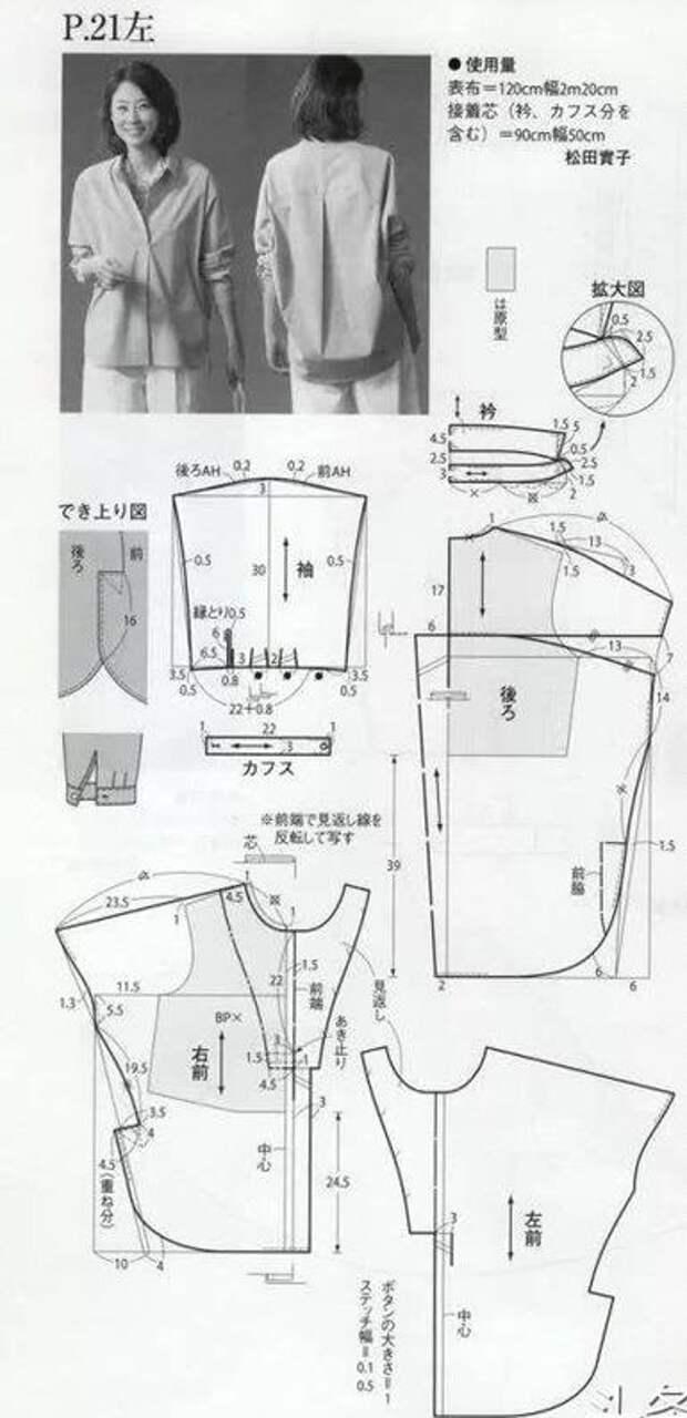 Простая выкройка интересной блузки