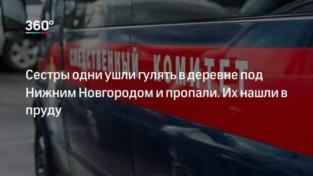 Сестры одни ушли гулять в деревне под Нижним Новгородом и пропали. Их нашли в пруду