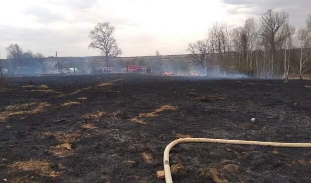 8 жилых участков охватило пожаром в Кизнерском районе Удмуртии