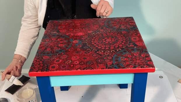 Творческая переделка старого столика: простая работа — стильный результат
