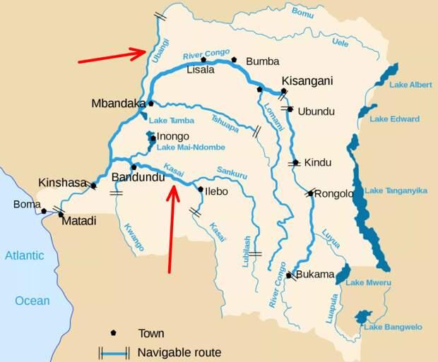 Притоки реки Конго