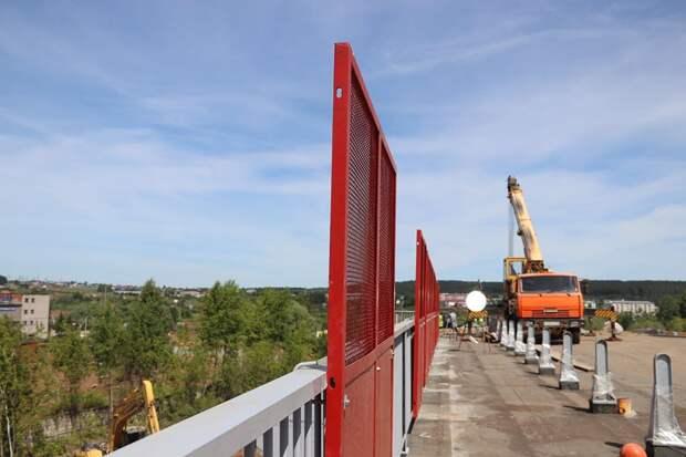 Мост через улицу Гончарова в Сарапуле откроют неделей позже