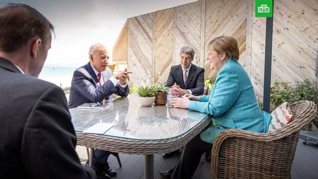 Меркель обсудила с Байденом его предстоящую встречу с Путиным